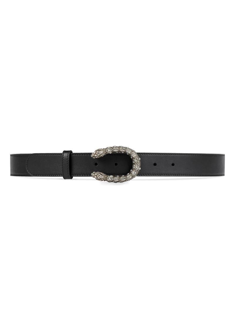 Gucci Crystal Leather Belt