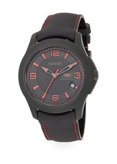 Gucci Leather Embossed Chronograph Watch
