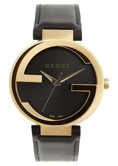 Gucci Leather Strap Watch, 40mm