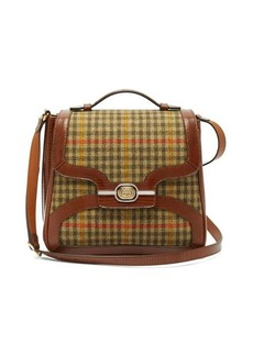 Gucci Leather-trimmed tweed bag