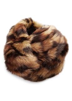 Gucci Leopard Faux Fur Turban