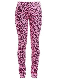 Gucci Leopard-print slim-leg jeans