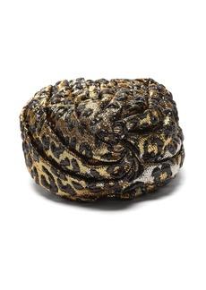 Gucci Leopard-print turban headband