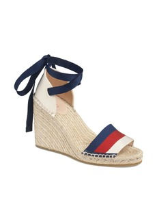Gucci Web Espadrille Wedge Sandal (Women)