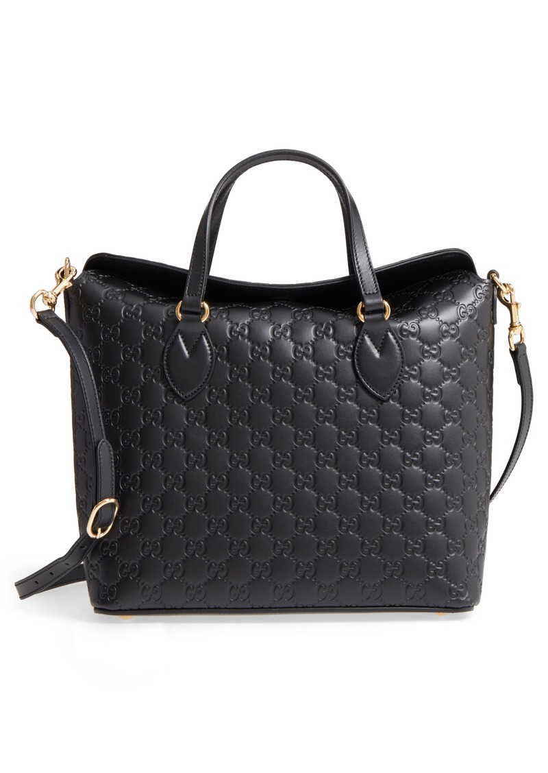 Gucci Linea A Bee Foldover Satchel