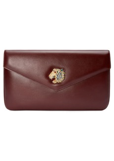 Gucci Linea Rajah Leather Clutch