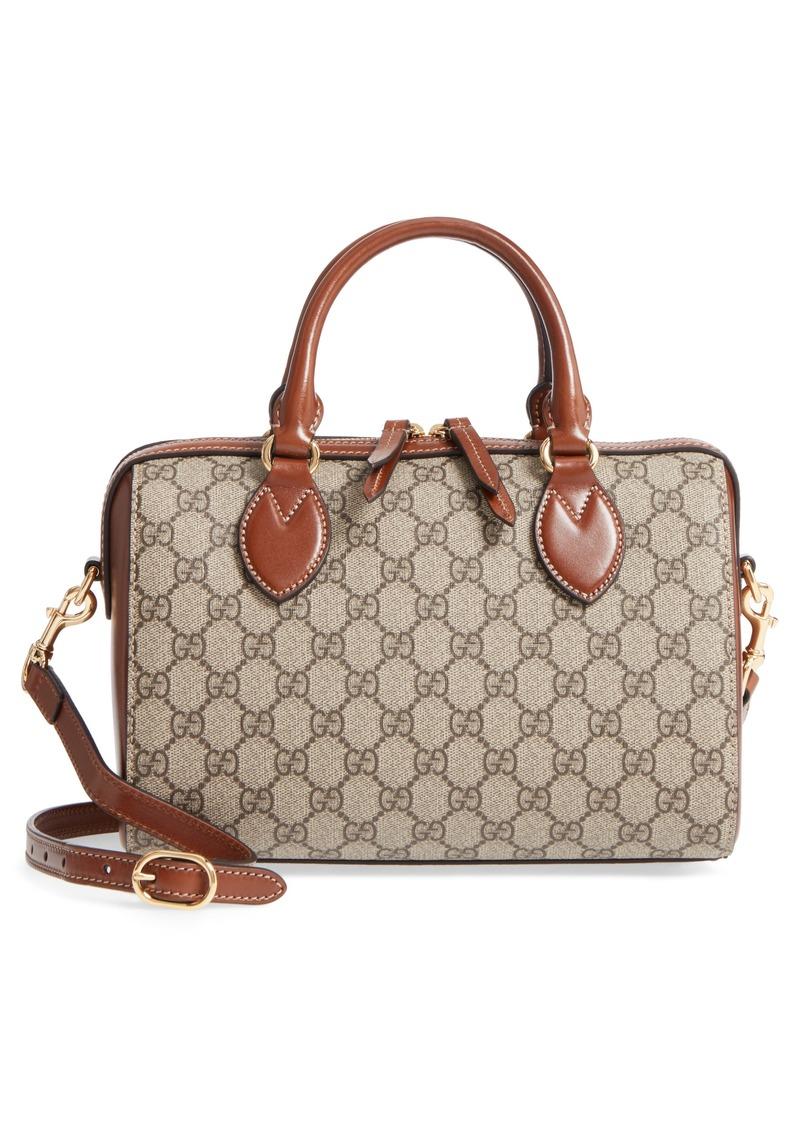 503cfe40 Linea Top Handle GG Supreme Canvas & Leather Bag