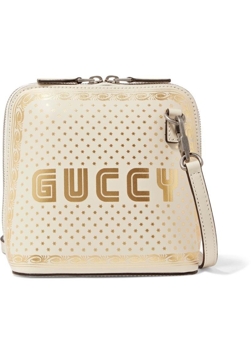 6c98d7652d98 Gucci Guccy Printed Leather Shoulder Bag   Handbags