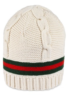 Gucci Liom Cable Knit Beanie