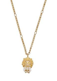 Gucci Lion crystal-embellished necklace