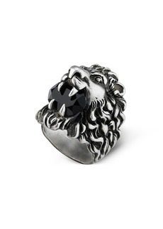Gucci Lion Head Aureco Crystal Ring