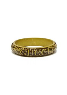 Gucci Logo and snake carved resin bangle