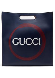 Gucci Logo and snake-print tote