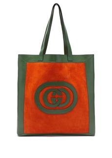 Gucci Ophidia logo-appliqué suede tote