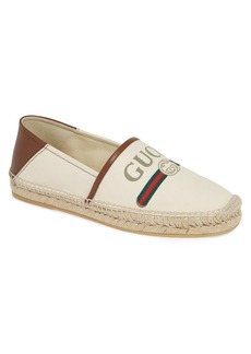 Gucci Logo Canvas Espadrille (Men)