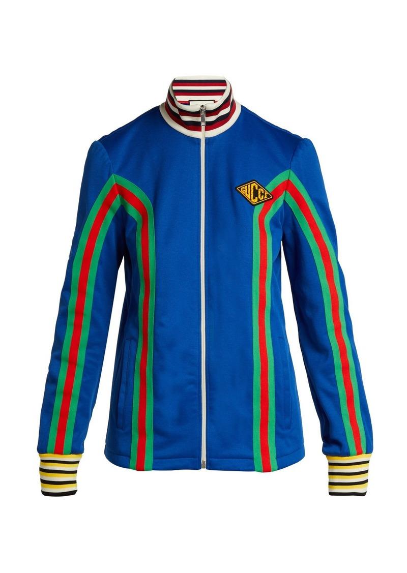 07684011f86 Gucci Gucci Logo-embellished stretch-cotton track jacket