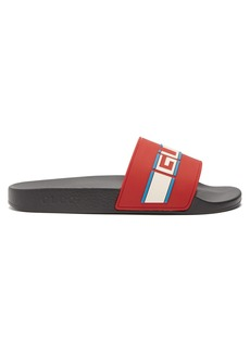 Gucci Logo-embossed rubber slides