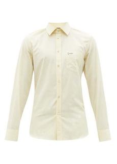Gucci Logo-embroidered cotton-poplin shirt