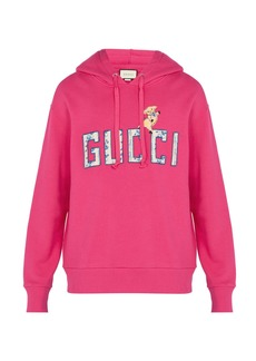 Gucci Logo-embroidered hooded sweatshirt