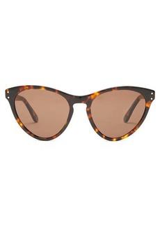 Gucci Logo-engraved cat-eye acetate sunglasses