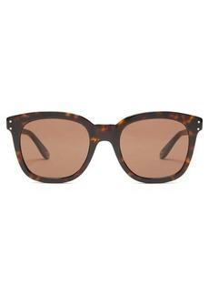 Gucci Logo-engraved round tortoise-acetate sunglasses