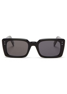 Gucci Logo-engraved square acetate sunglasses