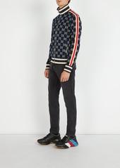 11907e3b8 ... Gucci Logo-jacquard cotton track jacket ...
