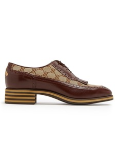 Gucci Logo-jacquard leather brogues