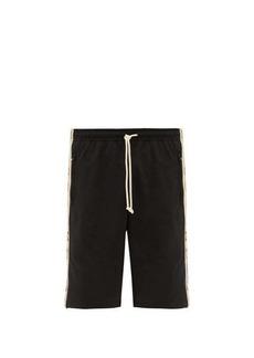 Gucci Logo-jacquard side-stripe shorts