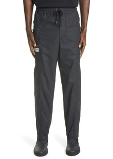 Gucci Logo Label Coated Cotton Drawstring Pants