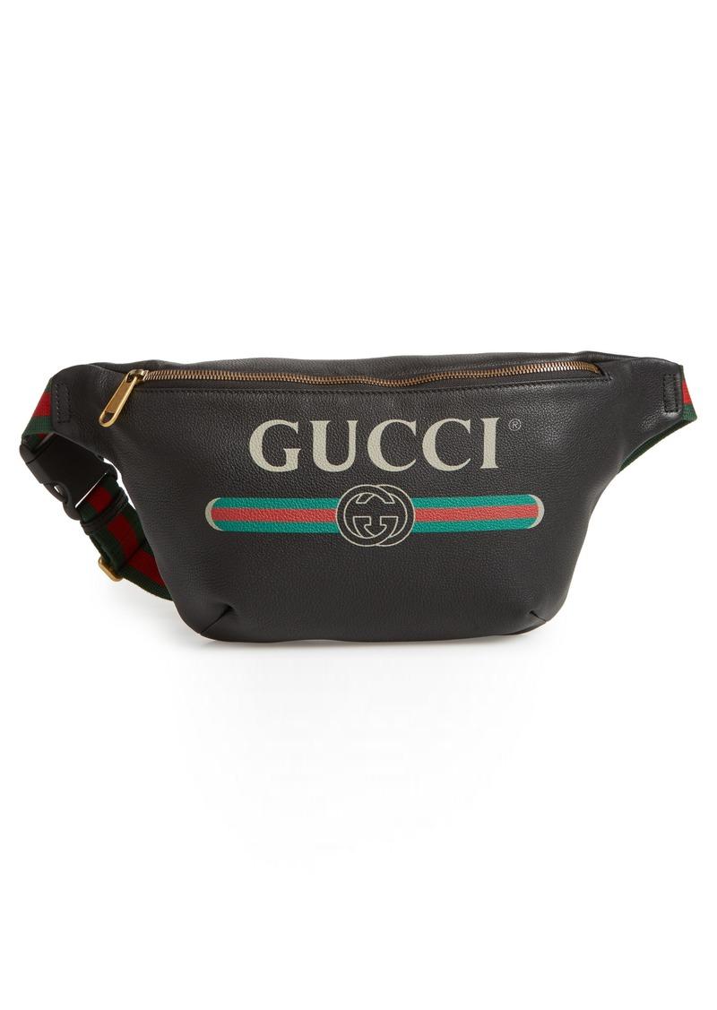 7d11fdf54d20 Gucci Gucci Logo Leather Waist Pack | Handbags