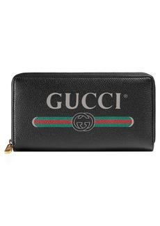 Gucci Logo Leather Zip-Around Wallet