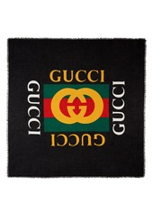Gucci Logo Modal & Silk Shawl