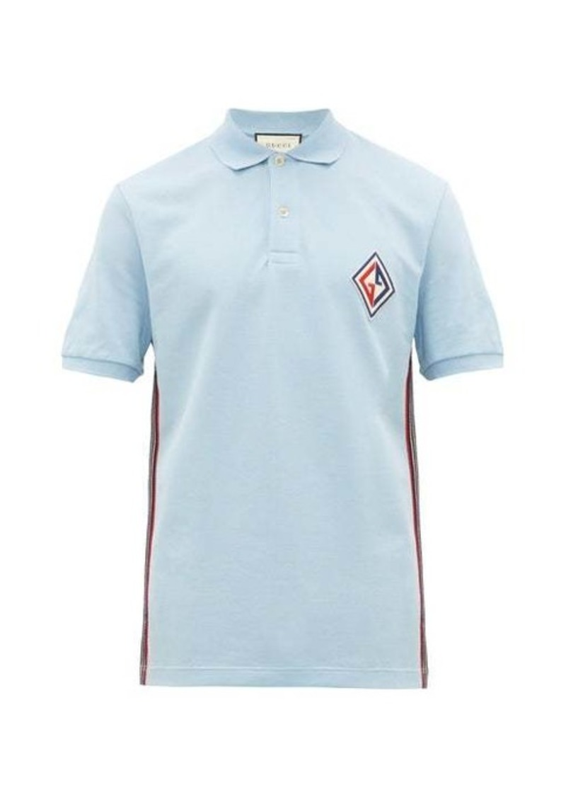 Gucci Logo-patch cotton-blend piqué polo shirt