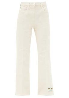 Gucci Logo-patch high-rise cropped-leg jeans