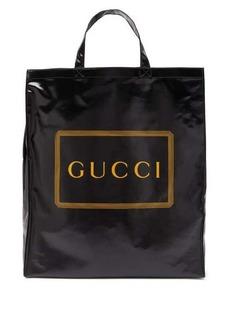 Gucci Logo-print coated-canvas tote bag