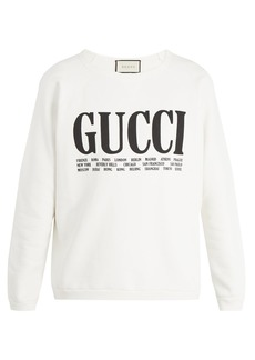 Gucci Logo-print crew-neck cotton sweatshirt