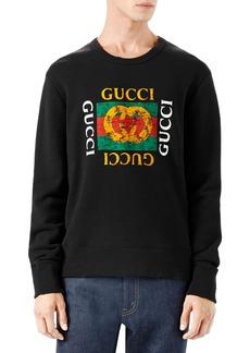 Gucci Logo Print Crewneck Sweatshirt