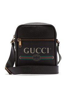 Gucci Logo-print grained-leather camera bag