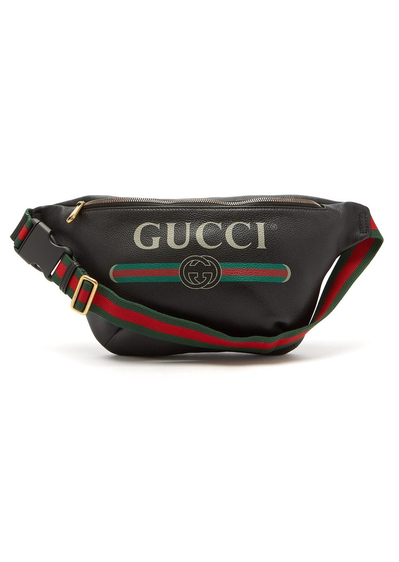 071cccbb2f53 Gucci Gucci Logo-print leather cross-body bag | Bags