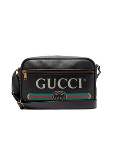 Gucci Logo-print leather messenger bag