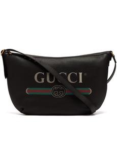 Gucci Logo-print leather messenger bag