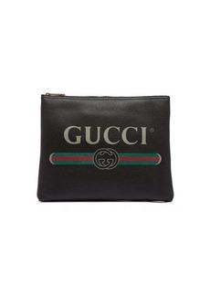 Gucci Logo-print medium leather pouch