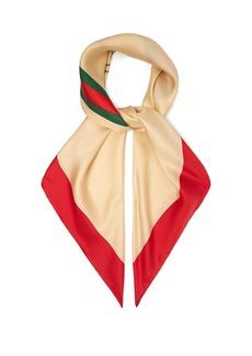 Gucci Logo-print silk scarf