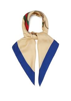 Gucci Logo-print silk-twill scarf