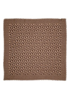 Gucci Logo Print Wool Scarf
