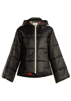 Gucci Logo-ribbon quilted jacket
