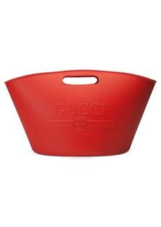 Gucci Logo Rubber Bucket Tote