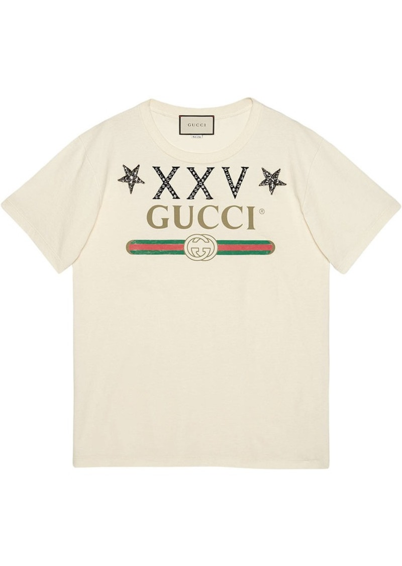 766ee7ea Gucci Gucci logo T-shirt with stars | Tees