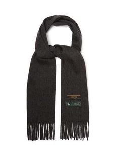 Gucci Logo-tag wool-blend scarf
